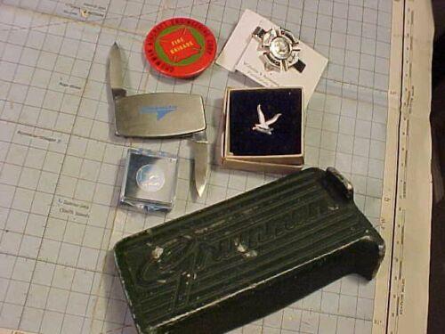 ORIGINAL VINTAGE GRUMMAN AVIATION PIN ETC LOT