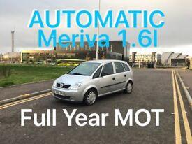 AUTOMATIC £1250 2006 Meriva 1.6l* like focus megane golf punto fiesta civic A3 A4 astra corsa