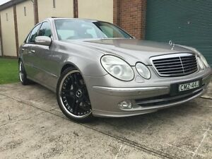 2004 Mercedes-Benz E500 211 Avantgarde Cubanite Silver 7 Speed Automatic G-Tronic Sedan Campsie Canterbury Area Preview