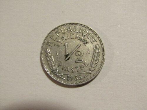 Syria 1935 1/2 Piastre Coin