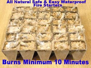 FIRE STARTERS - BURNS MINIMUM 10-15 MINUTES - SAFE & ALL NATURAL