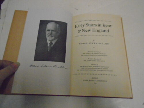 Genealogy Early Starrs in Kent & New England, Starr Family, 1944 by Ballou