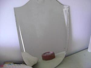 Antique Bevelled Edge Shield Style Mirror