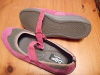 LADIES COTTON TRADERS PINK STRAP SHOES