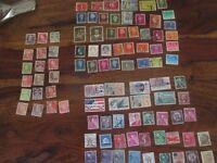 USA and Nederland stamps