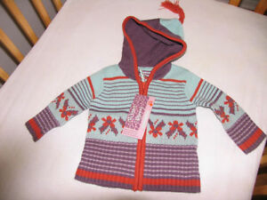Gilet en tricot capuche Orchestra France neuf - 6 mois
