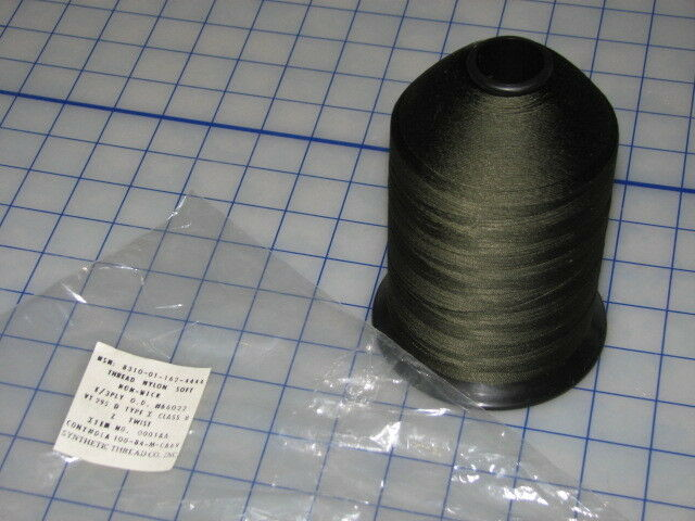military nylon soft non wick 3ply OD z twist synthetic thread inc class B 1 lbs