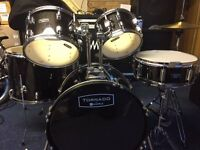 "Mapex Tornado III Fusion 20"" Drum Kit, Black"