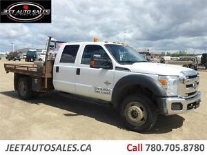 2012 Ford Super Duty F-550 XLT 4X4 CREW CAB  9FT FLAT DECK 6.7L