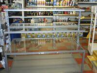 glass shelved display stand