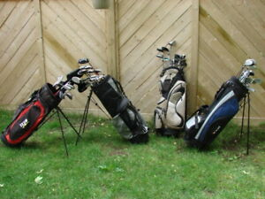 Ladies and Men's RH and LH golf club sets with golf bag