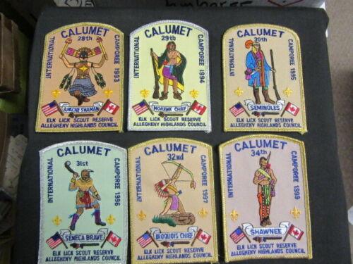 Calumet International Camporee Patches Lot of 12        cov11