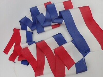 Antique French Flag Ribbon Wide Haberdashery Sewing Trimming Trim
