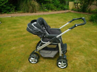 Silver Cross Linear Freeway pram system and car seat