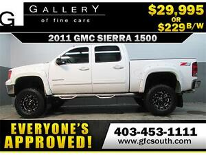 2011 GMC SIERRA 1500 LIFTED *EVERYONE APPROVED* $0 DOWN $229/BW!