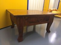Beautiful Indian Rosewood coffee table. solid wood. Excellent condition.