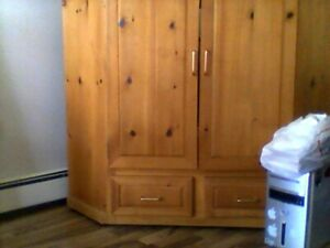 real pine cabinet