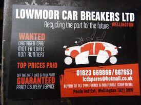 Lowmoor Car Breakers - Wellington - Scrap Cars Wanted