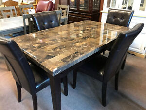 Marble Look table set - 5pcs