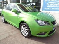 Seat Ibiza 1.4 SportCoupe 2013 Toca F/S/H Low miles 43k 1 owner from new p/x