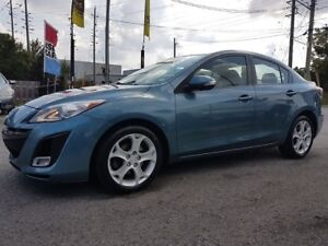 2010 Mazda MAZDA3 GT, LEATHER SEATS, SUNROOF, BLUETOOTH, ONLY 13