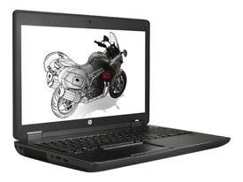 """HP ZBook15 G2 Intel i7 4810MQ - 32 GB RAM - 256GB M.2 SSD + 240GB 2.5"""" SSD, 15.6"""" Full HD Win 10 Pro"""