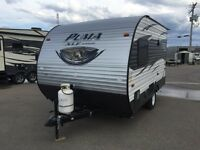 JUST ARRIVED! 2016 PUMA 12ft TRAILERS WITH BED, BATHROOM, & KITC