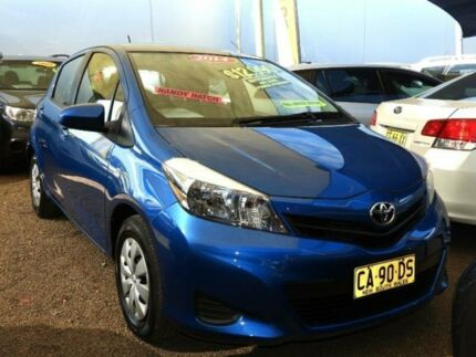 2014 Toyota Yaris NCP130R YR Caribbean Blue 4 Speed Automatic Hatchback