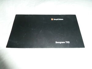 Bang and Olufsen Beogram TX2 manual