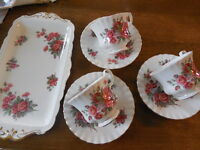 Set .Royal Albert..........Tray and 3 matching Cups & Saucers