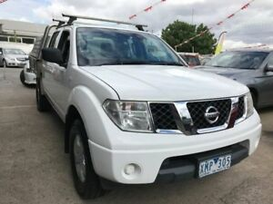 2009 Nissan Navara D40 RX 4x2 White 6 Speed Manual Utility