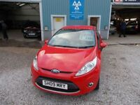 FORD FIESTA 1.6 ZETEC 3d 100 BHP FINANCE AVAILABLE (red) 2009