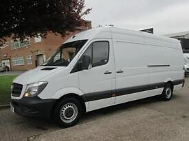 2014 64-REG MERCEDES SPRINTER 313CDI LWB HIGH ROOF. 1 OWNER. LOW 46,000 MILES.