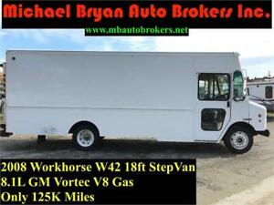 2008 WORKHORSE W42 18FT STEP VAN *GM VORTEC 8.1L V8 GAS*