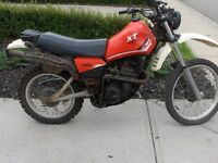 1983 YAMAHA XT550 Parts or Project Bike