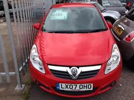 VAUXHALL CORSA 1.4i 16V Design 3dr (red) 2007