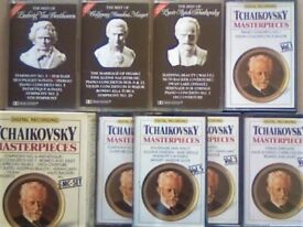 CSL BEETHOVEN MOZART & 6 x TCHAIKOVSKY PRERECORDED CLASSICAL OPERA CASSETTE TAPES