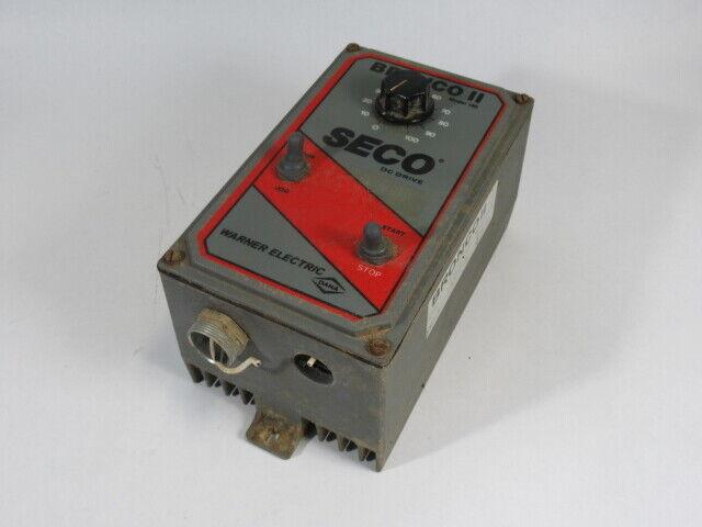 Warner Electric Bronco II Seco DC Drive Model 160 0-100 USED