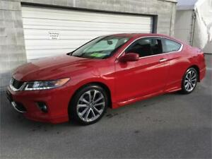 2015 HONDA ACCORD COUPE EX-L TOURING V6 RED performance