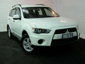 2010 Mitsubishi Outlander ZH MY10 LS White 6 Speed Constant Variable Wagon Derwent Park Glenorchy Area Preview