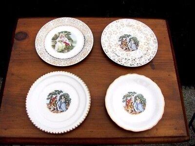 4 Vintage LIMOGES SALAD OR DESSERT PLATES Harker Pottery 22KT Gold