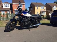 Immaculate 2015 Triumph Bonneville Newchurch limited edition. In Blue. Low Mileage. Perfect example