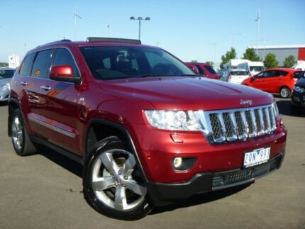 2013 Jeep Grand Cherokee WK MY2013 Overland Burgundy 6 Speed Sports Automatic Wagon