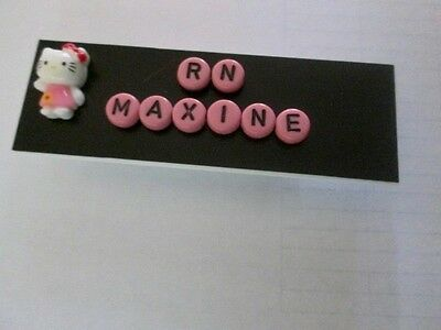 Id Name Tag Badge Magnet Or Pin Back Hello Kittyteachernurseoffice Pediatric