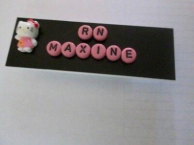 Id Name Tag Badge Magnet Or Pin Back Hello Kittyteachernurseoffice Pediatric