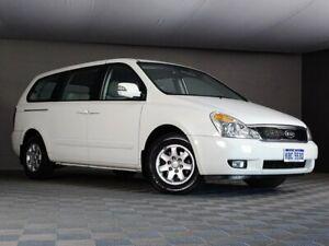 2012 Kia Grand Carnival VQ MY12 S White 6 Speed Sports Automatic Wagon