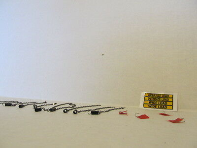 1 DCP 1/64 SCALE  WIDE LOAD, OVERSIZE LOAD DECAL, 10 CHAINS & 4 FLAGS 1
