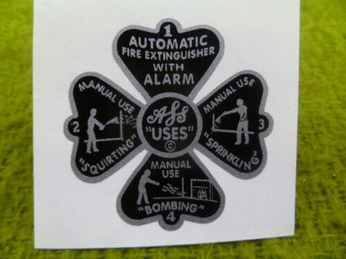Decal / Sticker For Auto Fyr Stop Fire Glass Extinguisher Medium