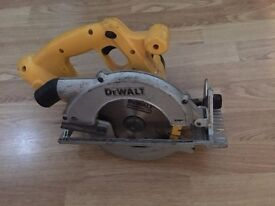 dewalt DC390 XRP circular saw with blade 18v, £45 no offers