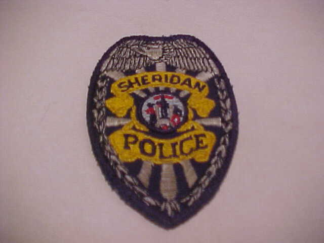 SHERIDAN WYOMING POLICE PATCH **** FREE SHIP IN USA ****